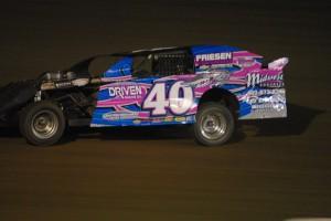 Shawn Harker wins a close Sport Mod Feature. Larry Mzhickteno