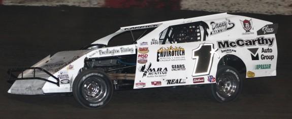 Lakeside Speedway Feature Winner Tim Karrick. Reed Bros. Racing Photos