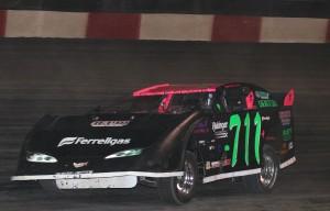 Nick Newton's 1st win on the night. Reed Bros. Racing Photos