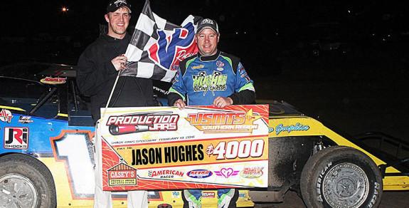 Jason Hughes pocket the big win. Ron Skinner Photo