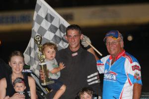 Once again Brett Heeter in victory lane. Ivan Veldhuizen Photo