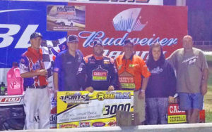 Zack VanderBeek and crew in the winner's circle. USMTS Photo